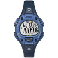 Timex® Ironman Women's 34mm Classic 30 Watch in Blue Resin with Blue Resin Strap