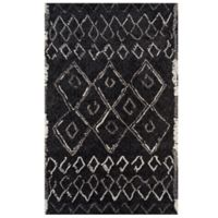 Momeni Margaux Geometric 2' x 3' Accent Rug in Black