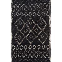 Momeni Margaux Geometric 7'6 x 9'6 Area Rug in Black