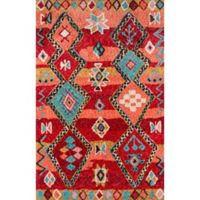Momeni Margaux Geometric 5' x 7'6 Hand-Tufted Area Rug in Red