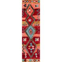 Momeni Margaux Geometric 2'3 x 8' Hand-Tufted Runner in Red