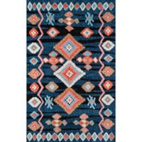 Momeni Margaux Geometric 7'6 x 9'6 Area Rug in Navy