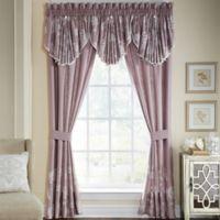 Croscill® Liliana 84-Inch Rod Pocket Window Curtain Panel Pair in Mauve