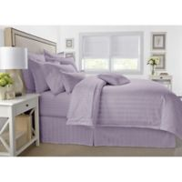 Wamsutta® 500-Thread-Count PimaCott® Damask King Comforter Set in Purple