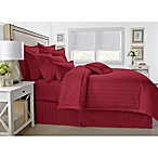 Wamsutta® 500-Thread-Count PimaCott® Damask King Comforter Set in Burgundy