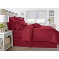 Wamsutta® 500-Thread-Count PimaCott® Damask King Comforter Set in Burgundy