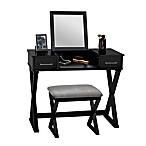 Alexis Vanity with Stool in Black