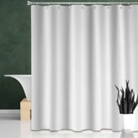 Dobby Weave Shower Curtain in White