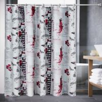 Romantic Notion Shower Curtain in Black/Red