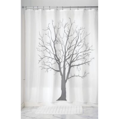 InterDesignR Tree Shower Curtain In Charcoal