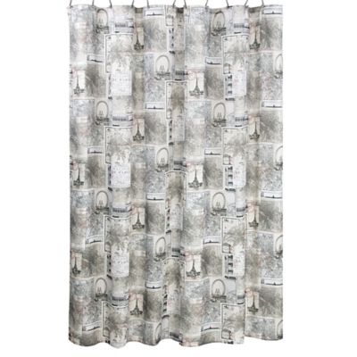 InterDesign Paris Shower Curtain in Caf