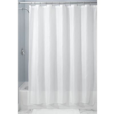 InterDesign® 54 Inch X 78 Inch Carlton Fabric Shower Curtain In White