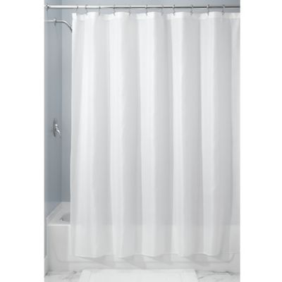 InterDesignR 72 Inch X 84 Carlton Fabric Shower Curtain In White