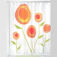 iDesign® Marigold Shower Curtain in Orange/Red