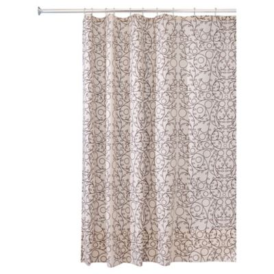 InterDesignR Twigz Shower Curtain In Vanilla Bronze