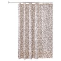 Interdesign Twigz Shower Curtain In Vanilla Bronze