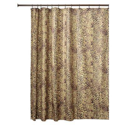InterDesignR Cheetah Fabric Shower Curtain In Brown