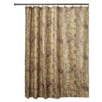 InterDesignR Cheetah Fabric Shower Curtain In Brown