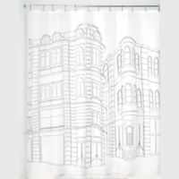 iDesign® Cityscape Shower Curtain in Black/White