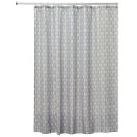 InterDesign® Seahorse Shower Curtain in Taupe/Mint