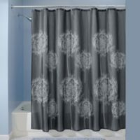 iDesign® 72-Inch x 72-Inch Dandelion Shower Curtain in Charcoal