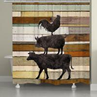 Laural Home Farmhouse Animals Shower Curtain
