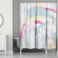 Designs Direct Colorful Abstract Shower Curtain