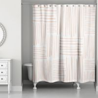 Designs Crosshatch Shower Curtain in Orange