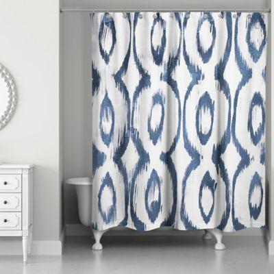 Designs Direct Indigo Cat Eye Shower Curtain In Blue