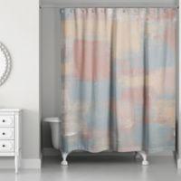 Designs Direct Autumn Brush Strokes Shower Curtain In Brown