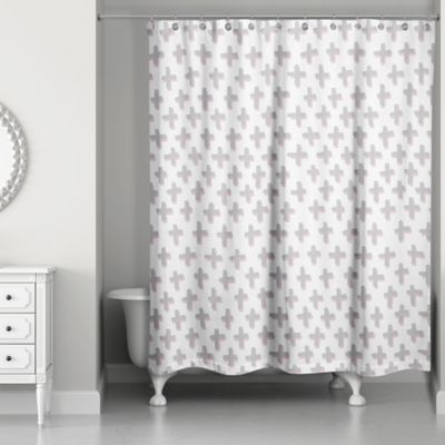 Designs Direct Plus Shower Curtain In Grey