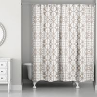 Designs Direct Shibori Shower Curtain In Tan