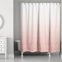 Designs Direct Ombré Floral Shower Curtain in Pink