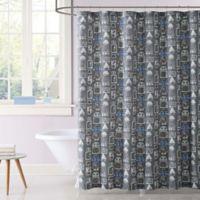 Laura Hart Kids Roboto Shower Curtain In Grey