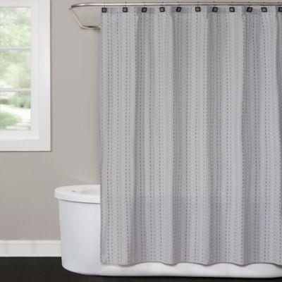 Saturday Knight Hopscotch Shower Curtain In Grey