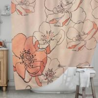 KESS InHouse® Painted Wild Roses Shower Curtain