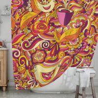 KESS InHouse® Birds in Garden 2 Shower Curtain