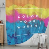KESS InHouseR Color Your World Shower Curtain