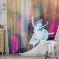 KESS InHouse® Pink Ballet Shower Curtain