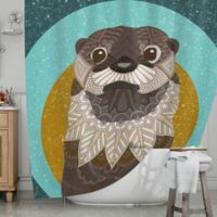KESS InHouse® Otter in Water Shower Curtain