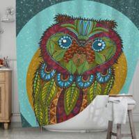 KESS InHouse® Owl Shower Curtain