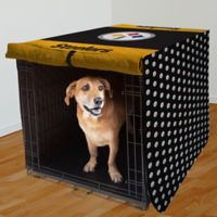 NFL Pittsburgh Steelers 42-Inch Pet Crate Cover