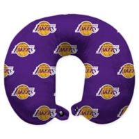 NBA Los Angeles Lakers Polyester Memory Foam U-Neck Travel Pillow