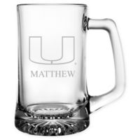 University of Miami 15 oz. Glass Sport Mug