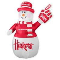University of Nebraska Inflatable Snowman