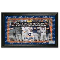 MLB Houston Astros 2017 World Series Champions Signature Field Framed Mint