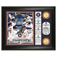 MLB Houston Astros 2017 World Series Champions Double Coin Banner Framed Mint