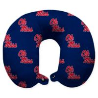 University of Mississippi Polyester U-Neck Travel Pillow with Snap Closure