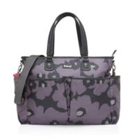 BabyMel™ Bella Floral Diaper Bag in Grey