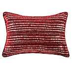 Manuscript Oblong Throw Pillow in Ruby
